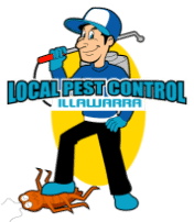 Local Pest Control Illawarra pest man logo
